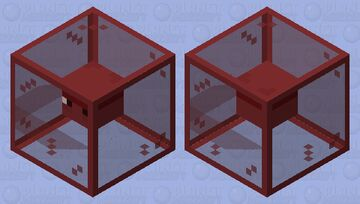 Red Stained Glass Shulker Minecraft Mob Skin