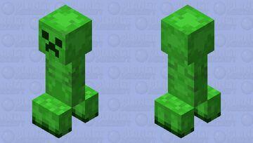 Updated Creeper Minecraft Mob Skin