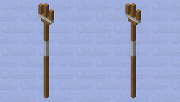 A few cardboard tubes duct taped into a trident Minecraft Mob Skin