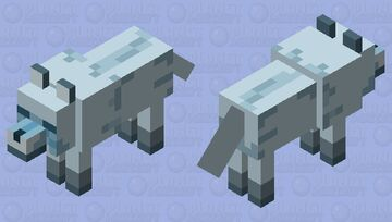 Frost-Bitten Hound Minecraft Mob Skin
