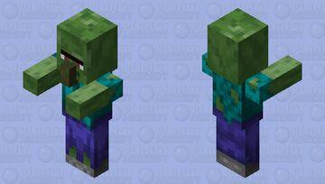 Modernized Classic Zombified Villager Minecraft Mob Skin