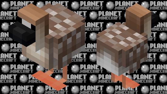 Ganso-africano (Anser cygnoides) Minecraft Skin