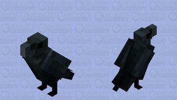 Carrion Crow Minecraft Mob Skin