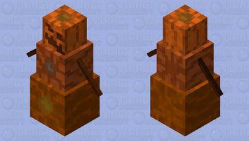 Pumpkin Golem Minecraft Mob Skin