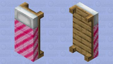 Candy cane bed Minecraft Mob Skin
