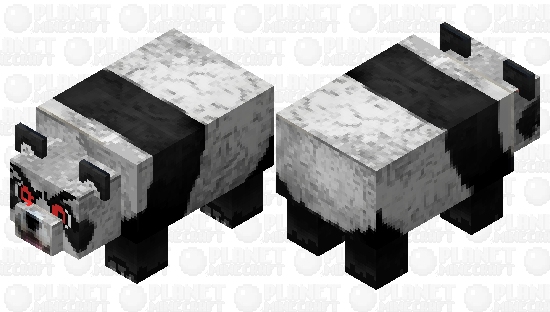 Mad Angry panda Minecraft Skin
