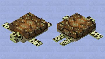 Accurate Green Sea Turtle Minecraft Mob Skin