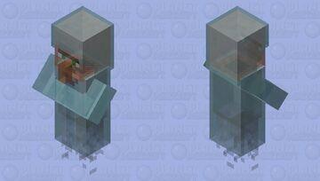 Ghost Villager Minecraft Mob Skin