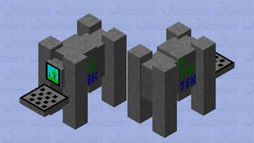 Super Powerful Computer with Moving Stand (Ravager) Minecraft Mob Skin