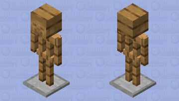 Armor stand with a steve head Minecraft Mob Skin