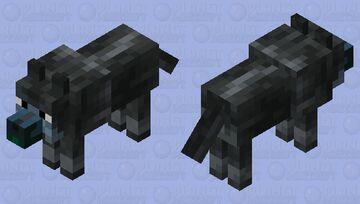 Darker Wolf Minecraft Mob Skin