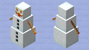 Burning Snowman Minecraft Mob Skin