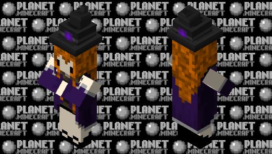 cute witch Minecraft Skin