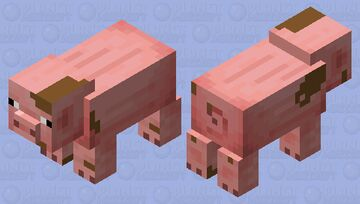 Muddy pig Minecraft Mob Skin