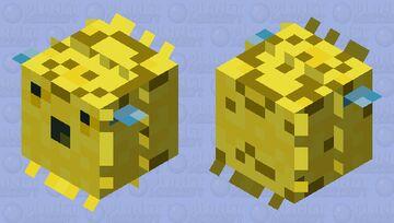 Classic PufferFish Minecraft Mob Skin