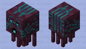 warped forest ghast shooting Minecraft Mob Skin