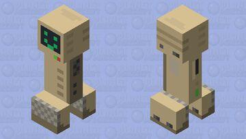 Retro Computer Creeper Minecraft Mob Skin