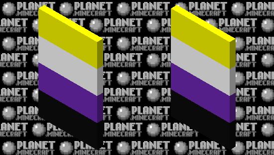 Non-binary Flag Cape Minecraft Skin