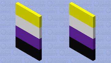 Non-binary Flag Cape Minecraft Mob Skin