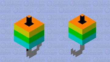 Colorful fishing bobber Minecraft Mob Skin