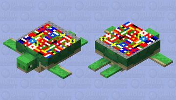 World Flags Turtle Minecraft Mob Skin
