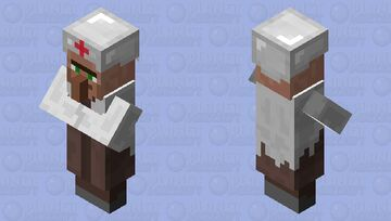 Dr. Villager without mask Minecraft Mob Skin