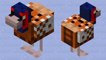 Male Ring-Necked Pheasant Minecraft Mob Skin