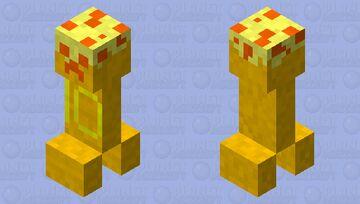 Gold 10 Year Cake Creeper Minecraft Mob Skin