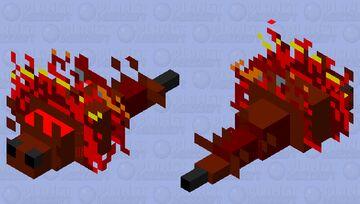 Fire Silverfish Minecraft Mob Skin