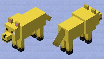 Golden Retriever Wolf (I tried lol) Minecraft Mob Skin