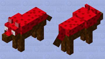 Chocolate strawberry wolf Minecraft Mob Skin
