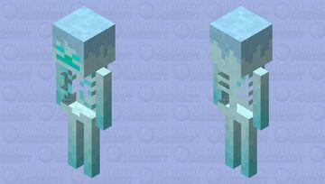 Frosted Skeleton Minecraft Mob Skin