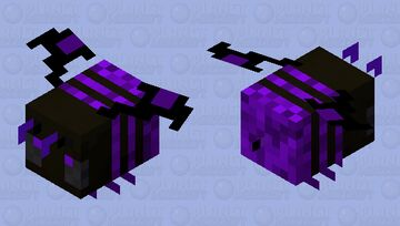 Dark Void Bee Minecraft Mob Skin