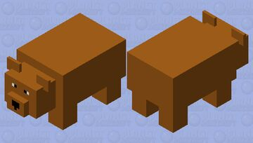 Brown Bear Minecraft Mob Skin