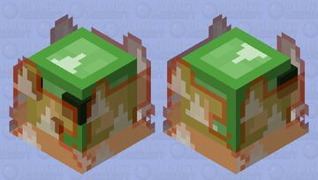 불타는 슬라임 Minecraft Mob Skin