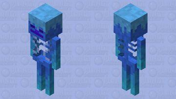 Frosty Skeleton Minecraft Mob Skin