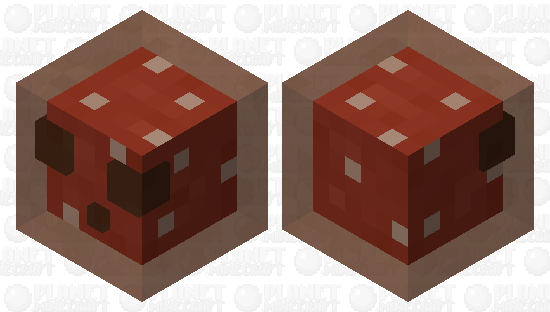 Red Mushroom Slime (updated to be more translucent) Minecraft Skin