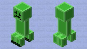 Sadder Creeper Minecraft Mob Skin