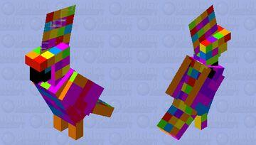 Rainbow Macaw Minecraft Mob Skin