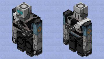 MVM BLU Heavy Robot Minecraft Mob Skin