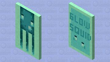 Glow Squid Cape (MINECON 2020) Minecraft Mob Skin