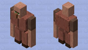 Vilager Iron Golem Minecraft Mob Skin