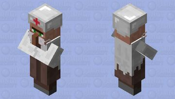 Dr. Villager with mask Minecraft Mob Skin