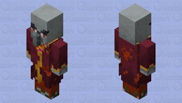 Red-Purple Evoker Minecraft Mob Skin