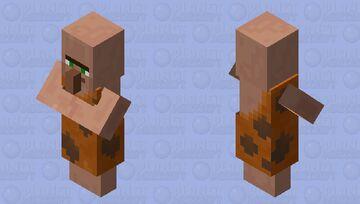 Caveman Villager. (Village Cultures. New series.) Minecraft Mob Skin