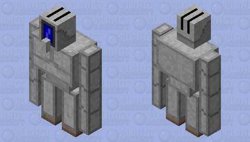 Robot Iron Golem Minecraft Mob Skin