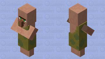 Caveman villager (Nitwit.) (Village Cultures.) Minecraft Mob Skin