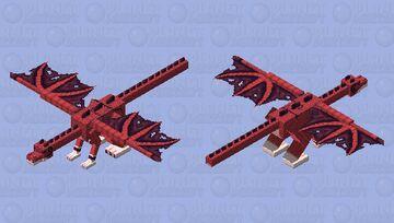 Dargon the Red Dragon Minecraft Mob Skin