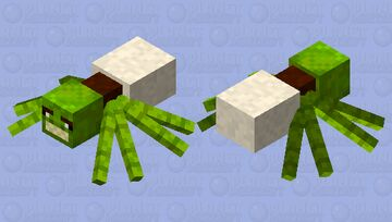 Shrek spider (Satan checks under his bed every night to make sure this isn't there) Minecraft Mob Skin