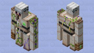 illager golem with wood gauntlet Minecraft Mob Skin